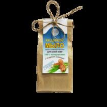 Кедровое мыло-скраб для сухой кожи со сливками и овсянкой, 80 г.